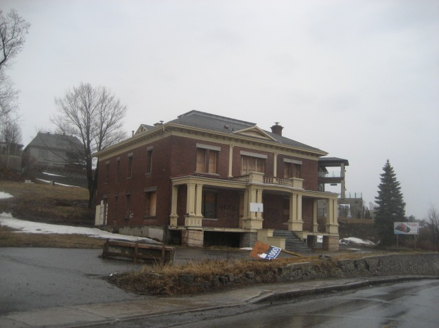 La maison Audette, en instance de démolition, avril 2014