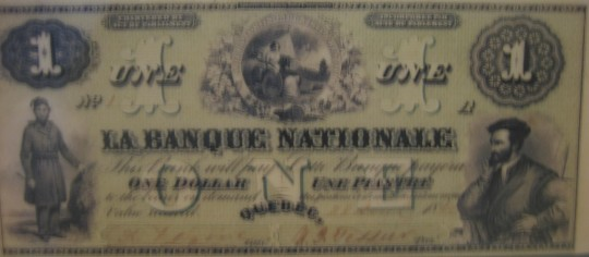 Premier billet de la Banque Nationale, 28 avril 1860