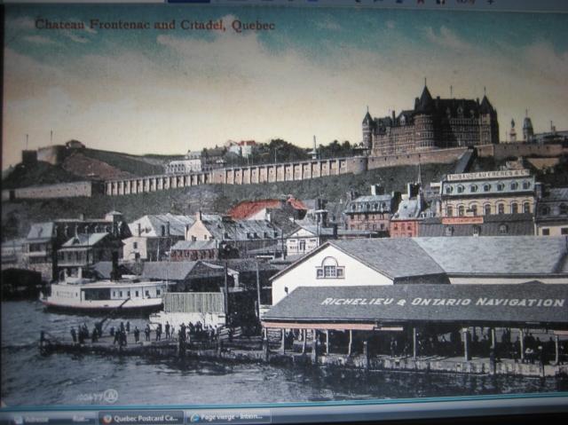 Le traversier ''South'' et l'édifice Thibaudeau & Frères, dominant la basse-ville