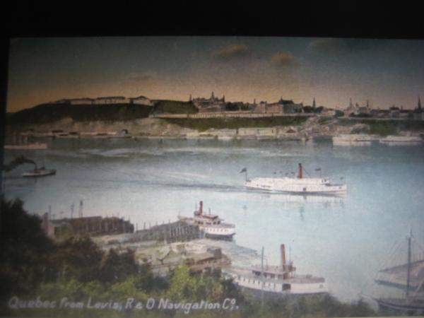 Vers 1905,  Québec et l'activité maritime sur le Saint-Laurent