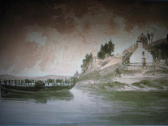 L'arrivée du bac à Pointe-Lévy, James Pattison Cockburn, 1831