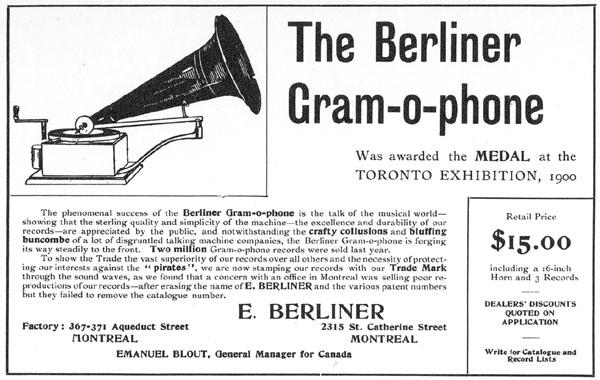 Dion - Image d'un Grammophone Berliner 1900