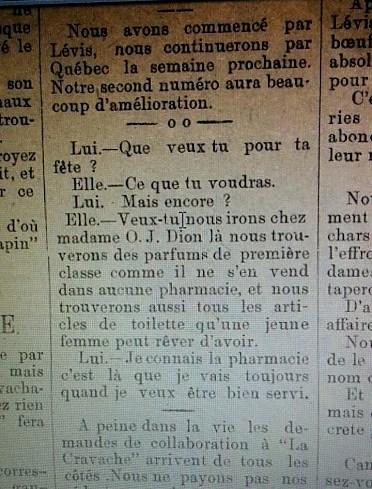 Dion - MMe - Entrefilet La Cravache