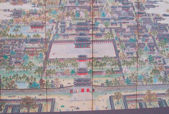 Séoul - Palais impérial - Lavis