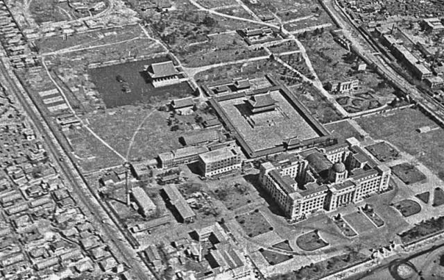 Seoul - Vue aérienne - Palais et batiment administratif